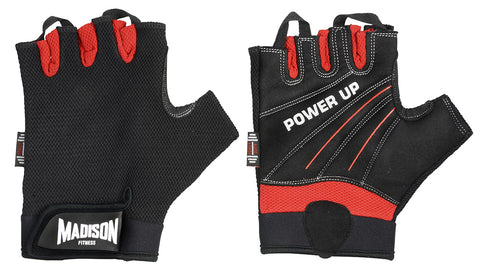 Power Up Mens Fitness Gloves - Red