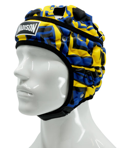 Graffiti Headguard - Yellow/Blue