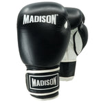 Platinum Velcro Boxing Gloves - Black/White