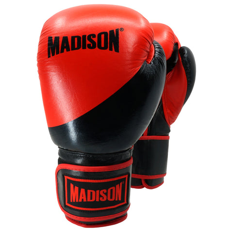 Platinum Velcro Boxing Gloves - Red/Black