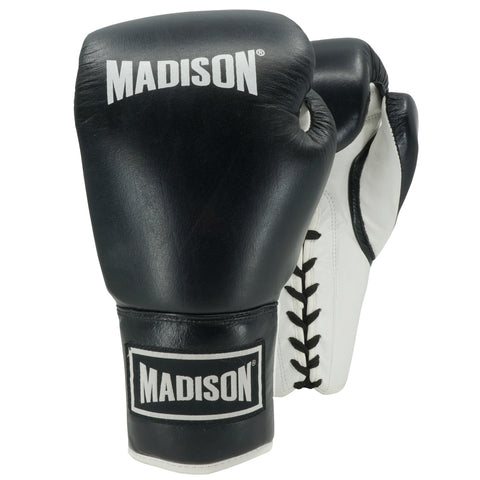 Platinum Lace-up Boxing Gloves - Black/White