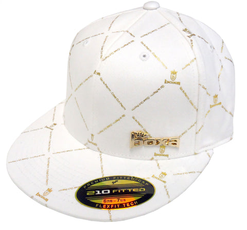 BOXA Crown Flexfit Cap - White