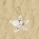 Sweet handmade cut shell cluster ornament.  Great price on something everyone will love!