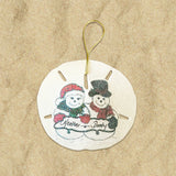 Medium Personalized Sand Dollar Ornaments