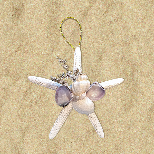 Shell Cluster Starfish Ornament