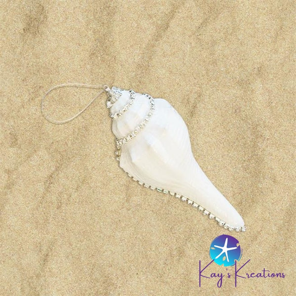Bling Seashell Ornaments B-35 Whelk Craft Item