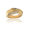 Kioa-ring i 14kt. guld med 12 brillanter. Design: Rebecca Falck