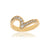 Ring i 14K guld med 14 diamanter, 0,52 ct. totalt