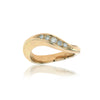 Ring i 14K guld med fem diamanter, 0,14 ct. Tw-vvs totalt