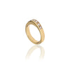 Lorena-ring i 14kt. guld med 7 brillanter. Design: Rebecca Falck