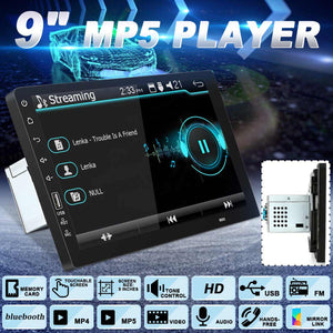 Dvd-MP5 9 ''Radio, GPS, touch screen, bluetooth, camera de ré
