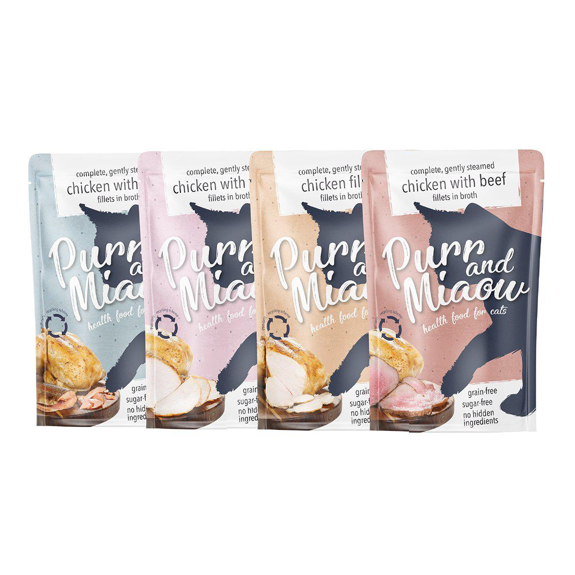 Sugar-free Wet Food Pouches for Cats-purrandmiaow