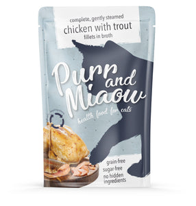 Sugar-free Cat food pouches (12x 85g)
