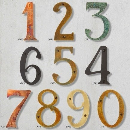 Country Craftsman House Numbers