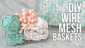 Use hardware cloth, wire cutters and needle nose pliers to create beautiful vintage industrial style wire mesh baskets of any size