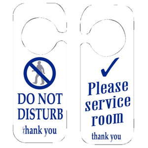 10 Pcs Safety Signs Do Not Disturb / Please Service Room Sign, Double-sided Ideal Door Hanger for Hotels, 205(H) x 80(W)mm