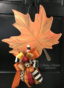 Fall Leaf Door Hanger