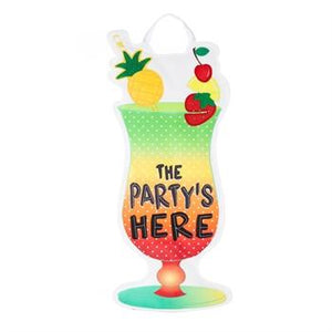 "Party's Here 24"" door hanger"