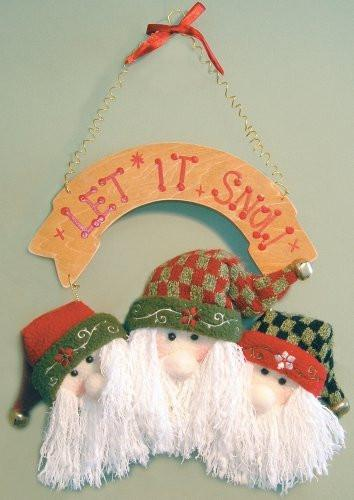 Santa Claus Trio Christmas Ornament Decoration Door Hanger(5409S)