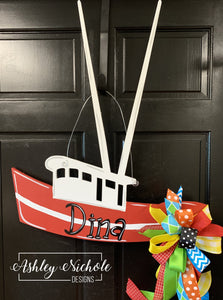 Shrimp Boat Door Hanger