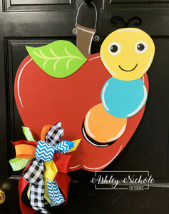 Bookworm Apple - Door Hanger