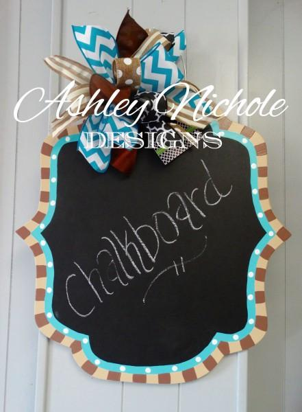 Chalkboard Plaque Door Hanger