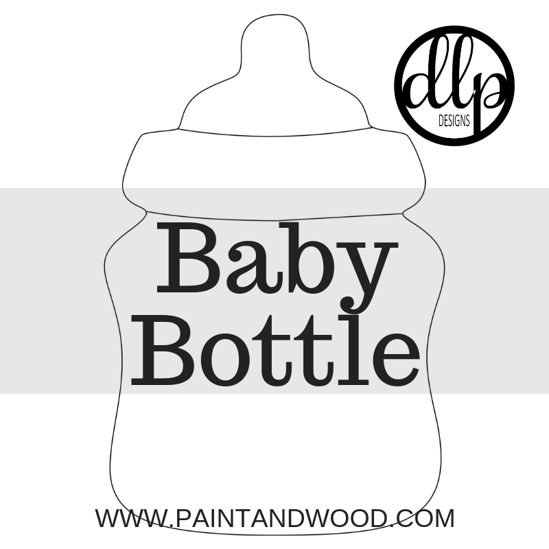 Baby Bottle Door Hanger - Unfinished