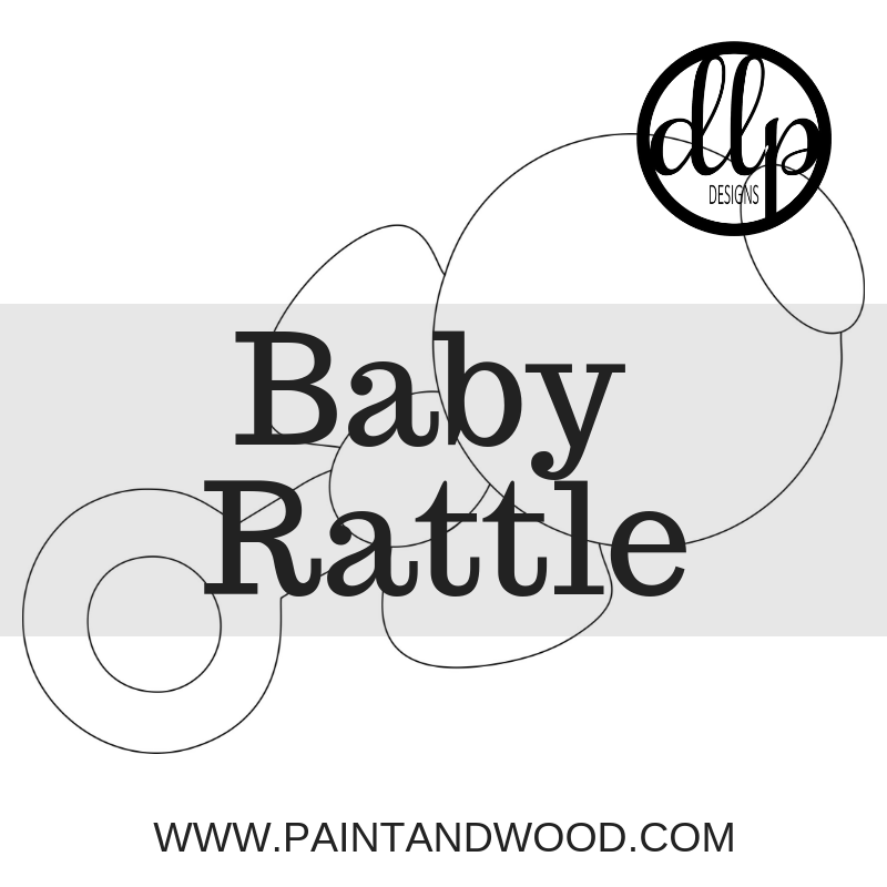 Baby Rattle Door Hanger - Unfinished