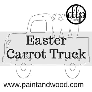 Easter Carrot Truck Door Hanger - Unfinished