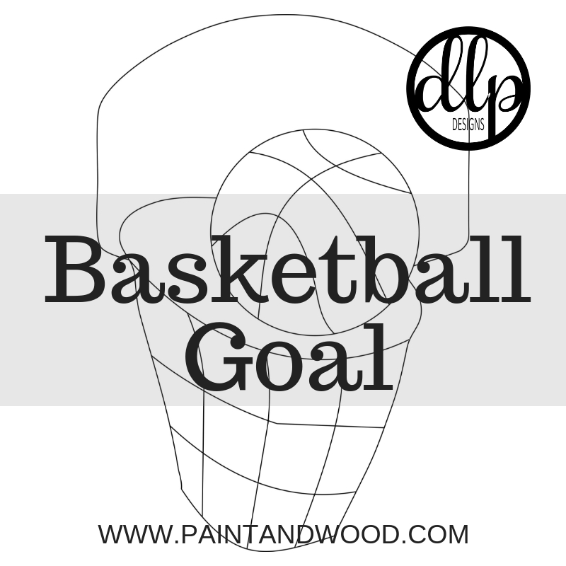 Basketball Goal Door Hanger - Unfinished