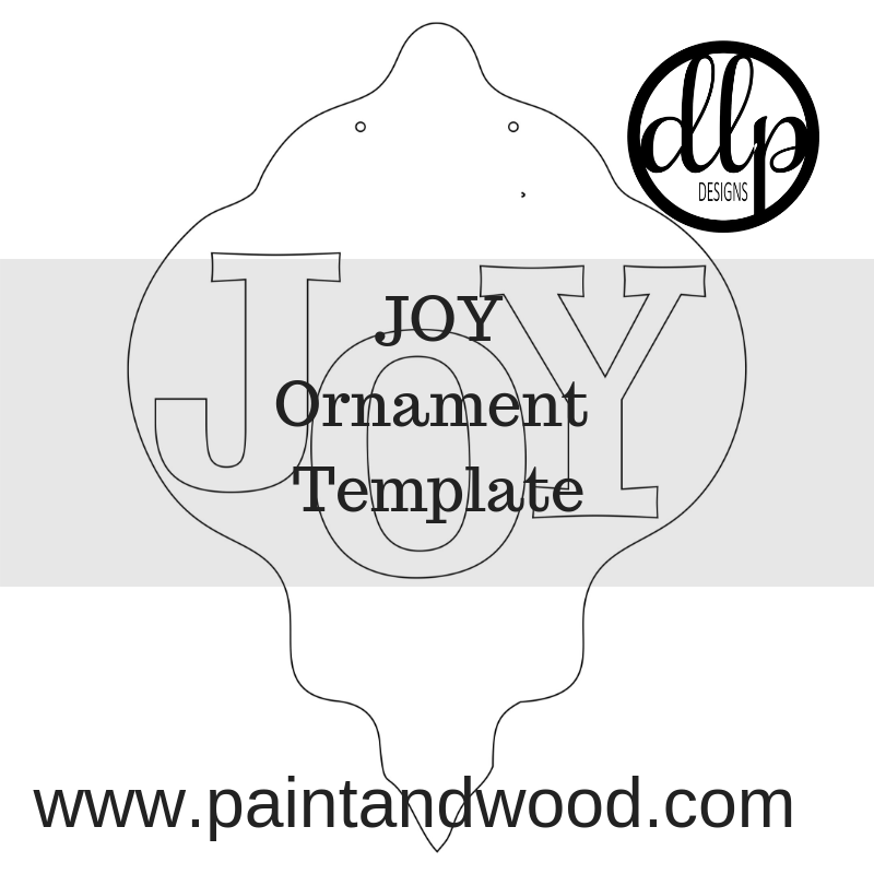 Monthly Virtual Paint pARTy - JOY Ornament Door Hanger