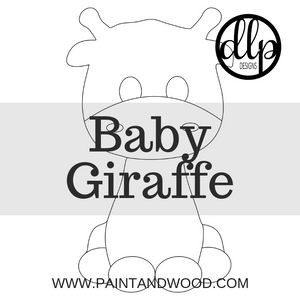 Baby Giraffe Door Hanger - Unfinished