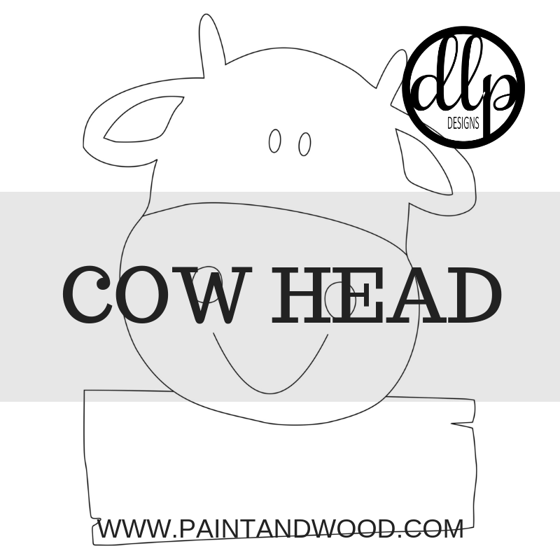 Cow Head  Door Hanger - Unfinished