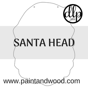 Santa Head Door Hanger - Unfinished