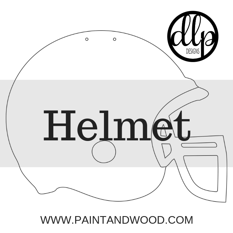 Football Helmet Door Hanger - Unfinished