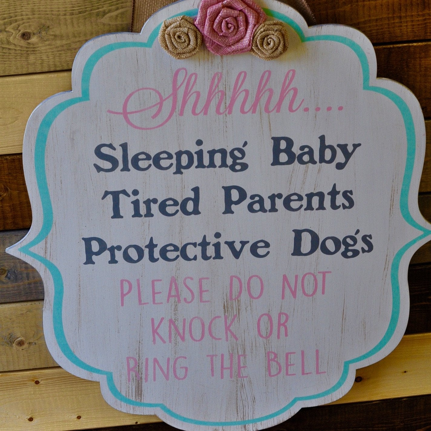 SLEEPING BABY: DOOR HANGER DESIGN
