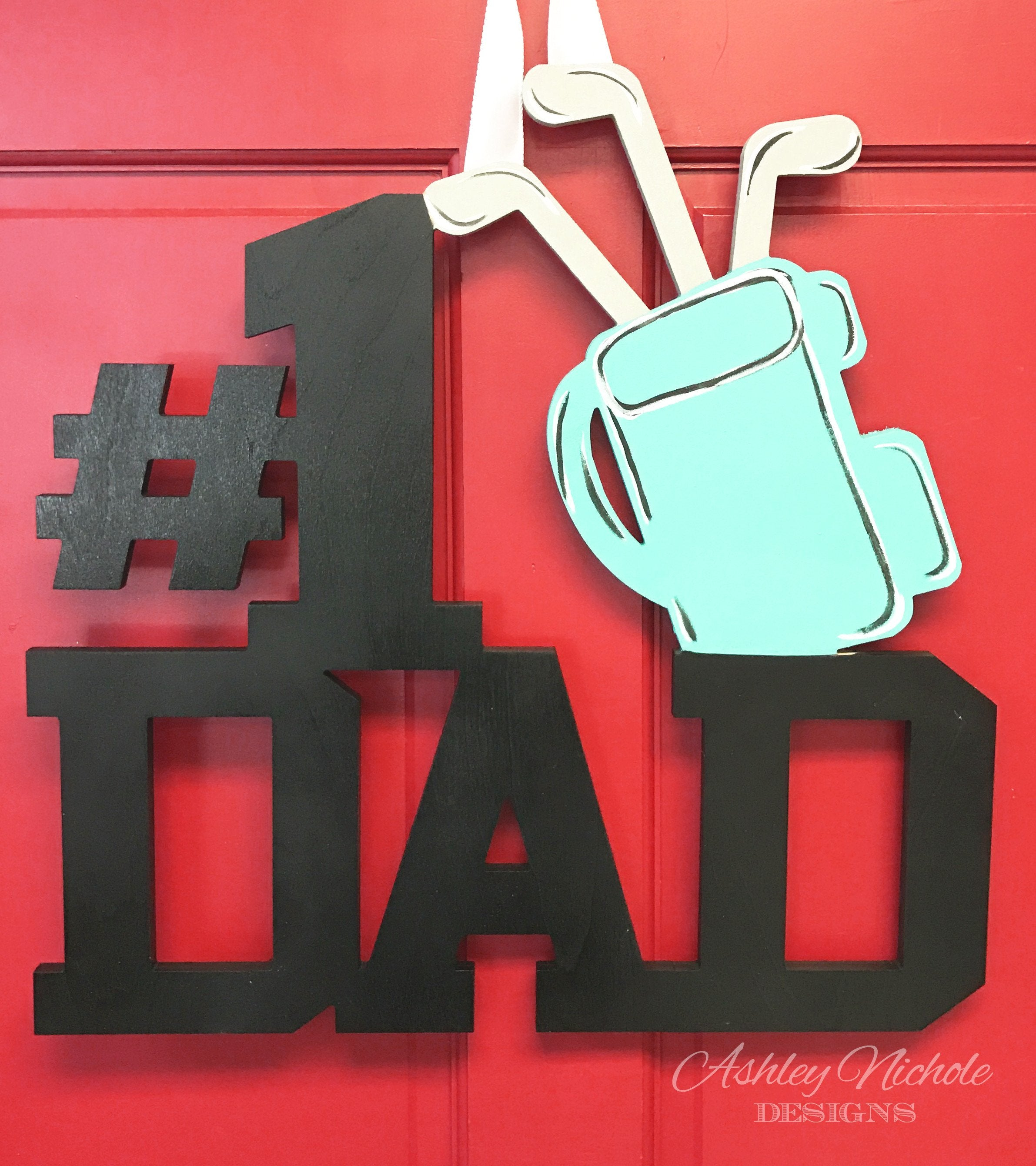 Dad Monogram - Golf - Door Hanger