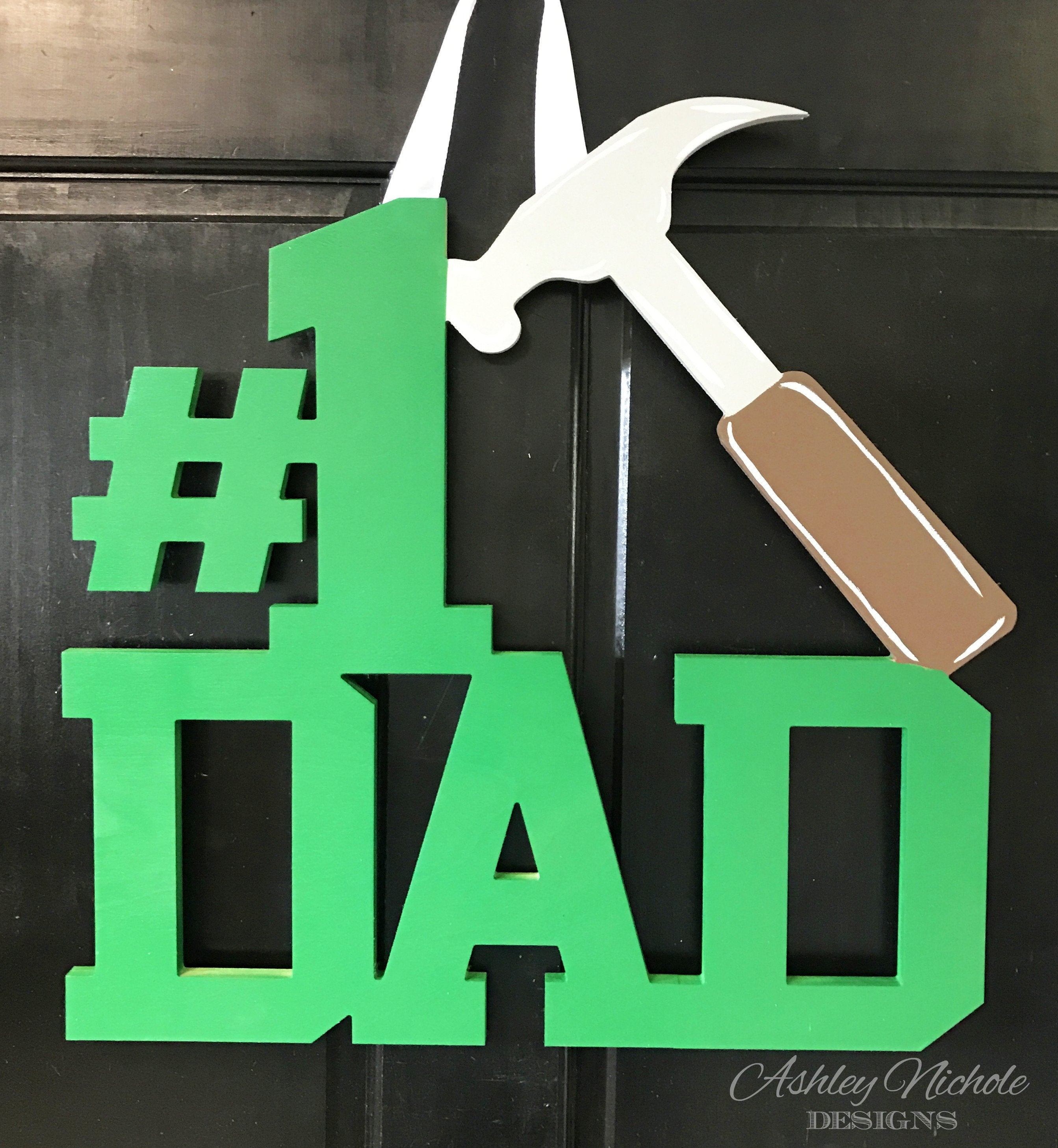 Dad Monogram - Hammer - Door Hanger