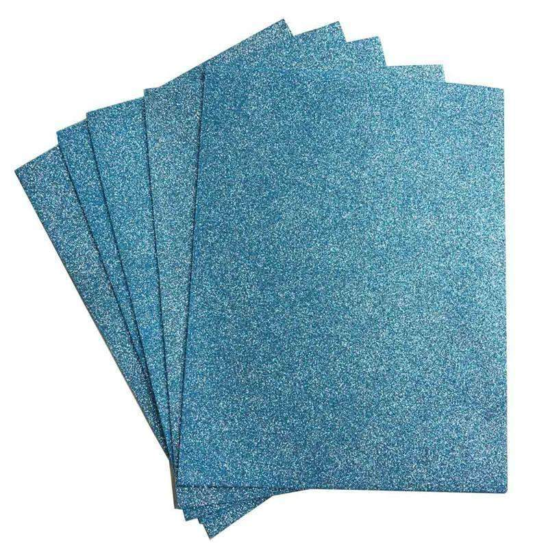 "10 Pack 12"" Serenity Ultra-Glitter Foam Single Color DIY Art Craft Sheets Fofuchas"