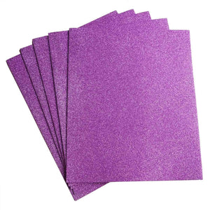 "10 Pack 12"" Lavender Ultra-Glitter Foam Single Color DIY Art Craft Sheets Fofuchas"
