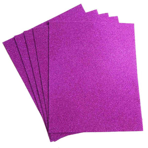 "10 Pack 12"" Purple Ultra-Glitter Foam Single Color DIY Art Craft Sheets Fofuchas"