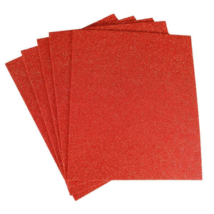 "10 Pack 12"" Red Ultra-Glitter Foam Single Color DIY Art Craft Sheets Fofuchas"