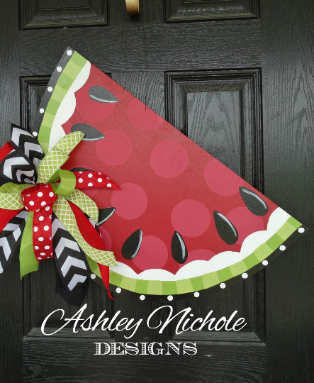 Funky Watermelon Red - Door Hanger