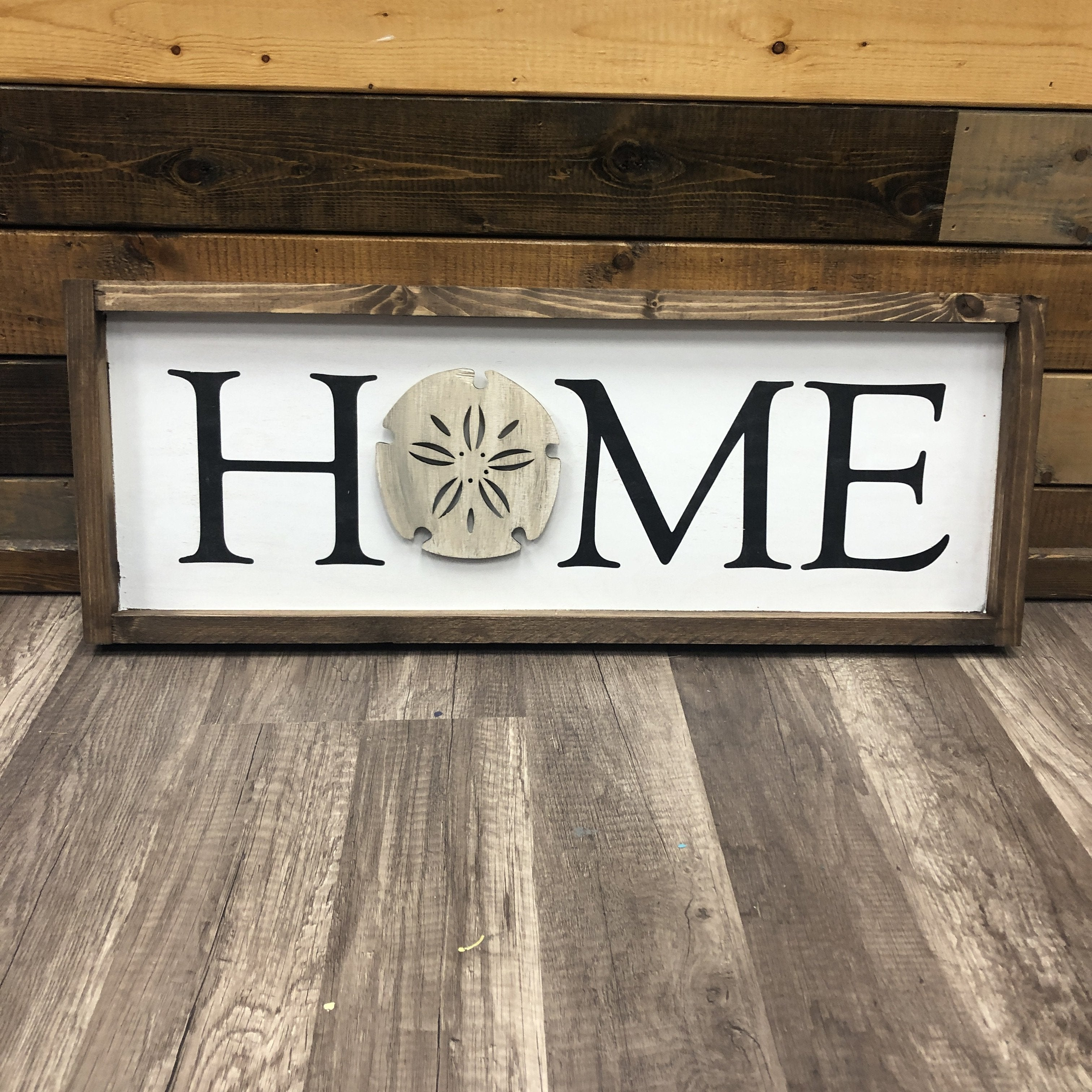 Home Plank Horizontal Interchangeable Round Door Hanger  PREMADE by PGM