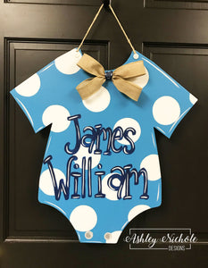 Baby Onesie with Sleeves Door Hanger