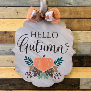 HELLO AUTUMN WITH AUTUMN FLORALS: DOOR HANGER DESIGN