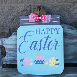 HAPPY EASTER MASON JAR: DOOR HANGER DESIGN