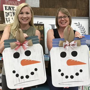SNOWMAN MASON JAR: DOOR HANGER DESIGN