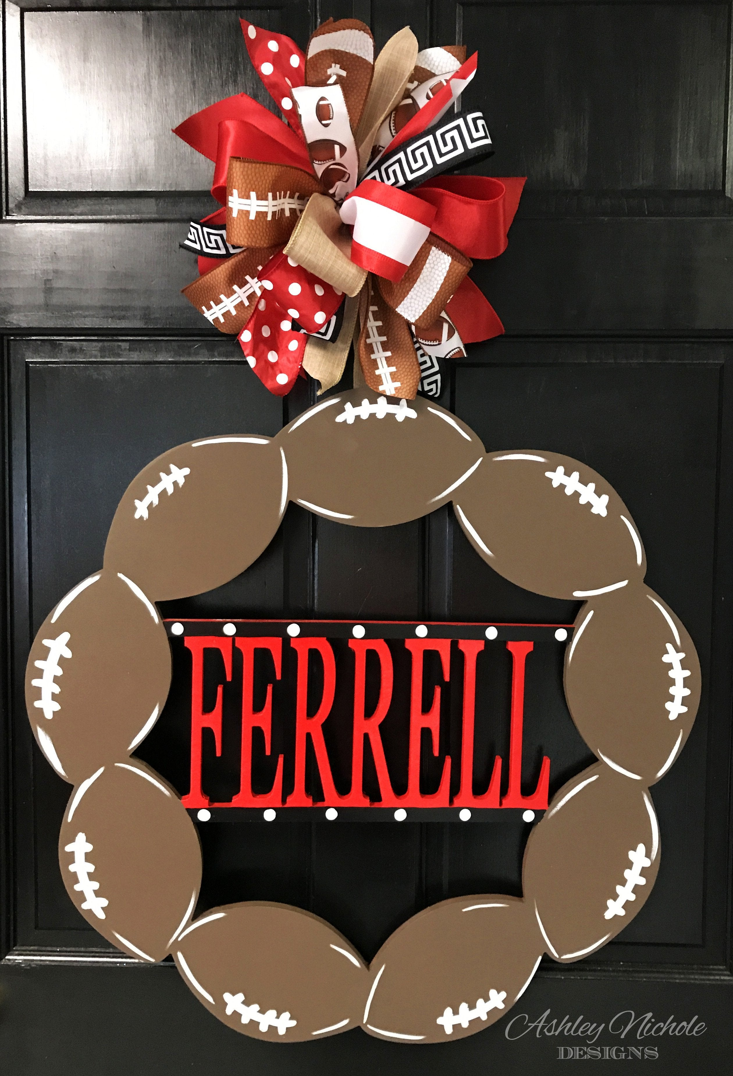 Football Name Door Hanger