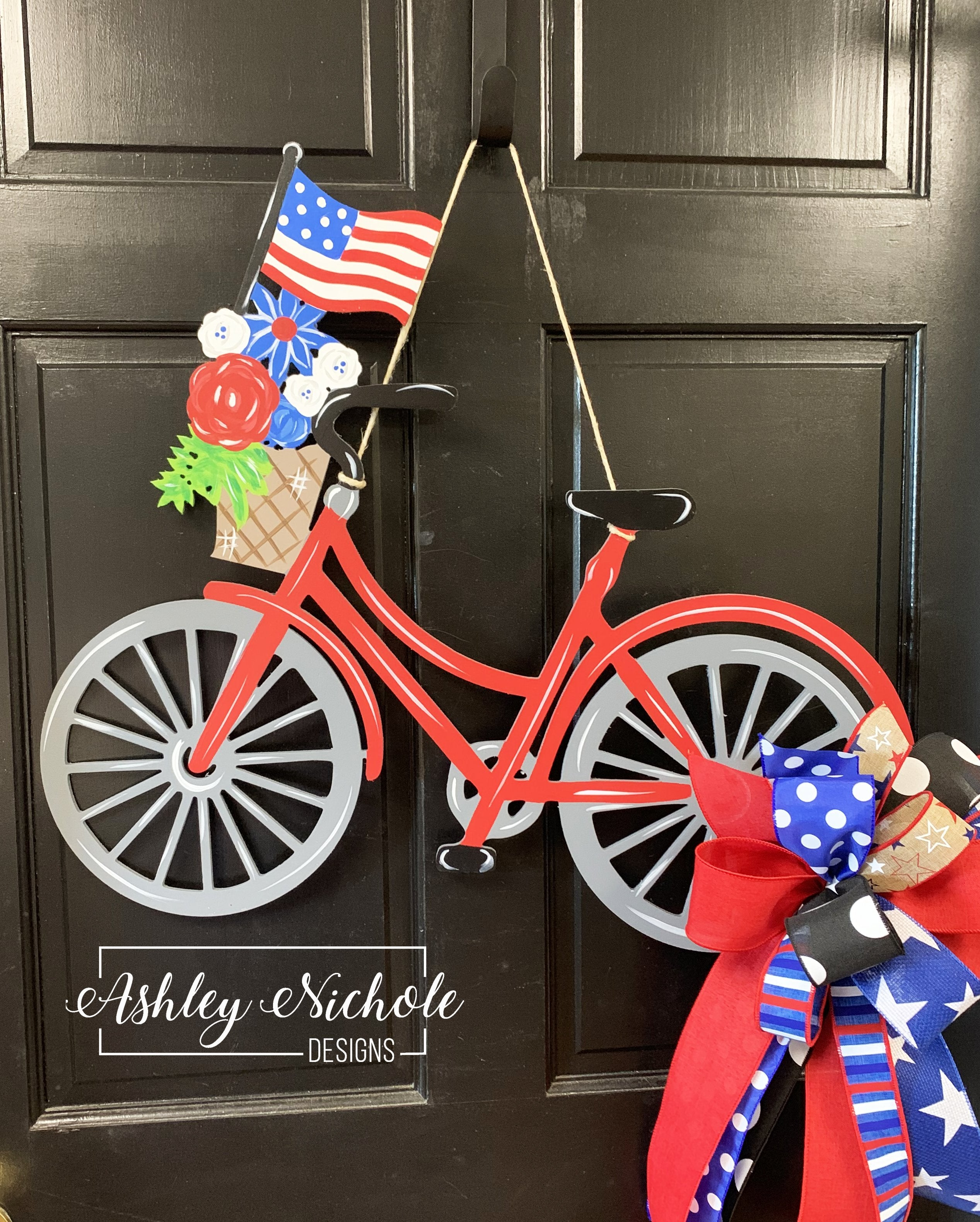 Bicycle PATRIOTIC Door Hanger